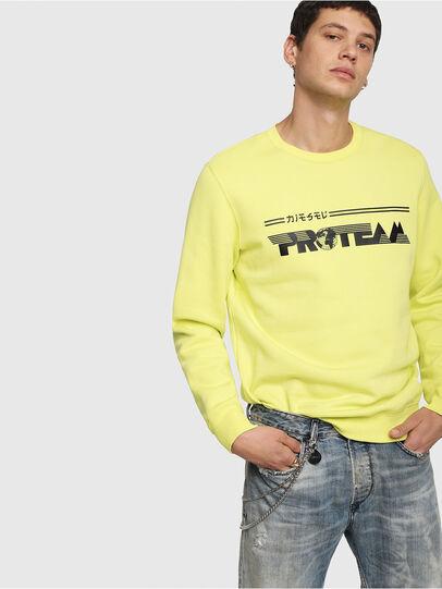 Diesel - S-GIR-Y1, Yellow - Sweatshirts - Image 1