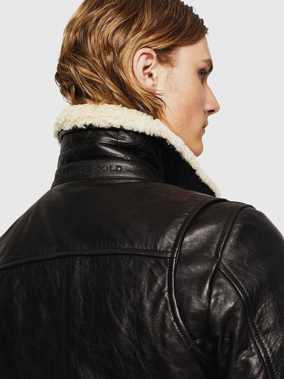 Diesel - L-VINT, Black - Leather jackets - Image 5