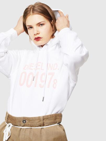 Diesel - F-ANG-HOOD-J1, White - Sweatshirts - Image 4