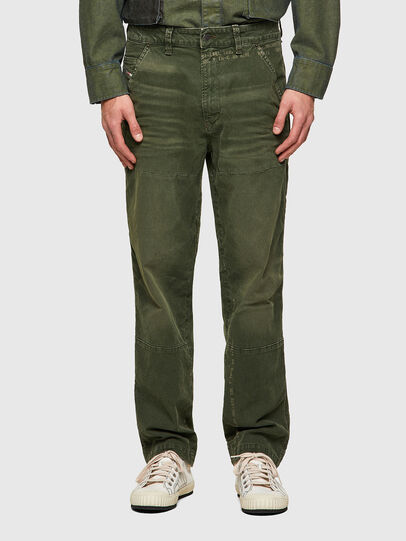 Diesel - D-Azerr Straight JoggJeans® 069WH, Military Green - Jeans - Image 1