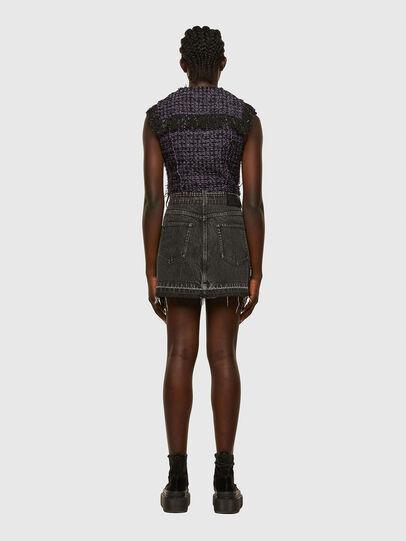 Diesel - D-OLGA, Black/Violet - Dresses - Image 2