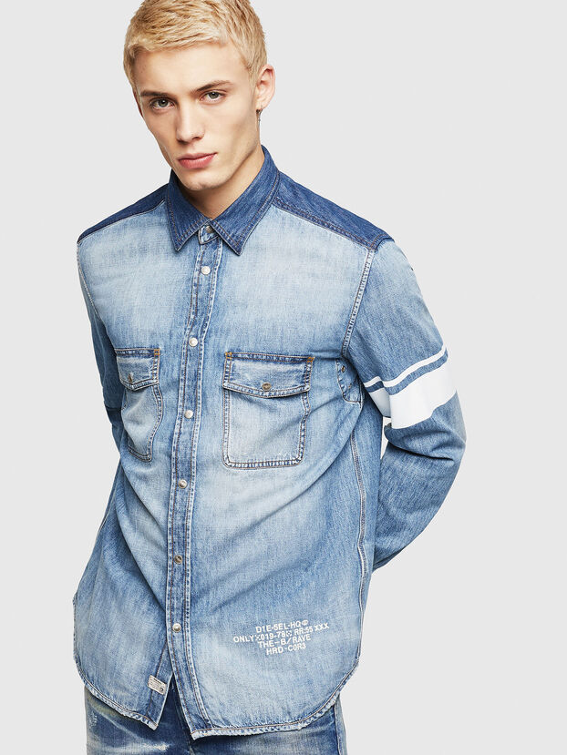 D-MILLER, Blue Jeans - Denim Shirts