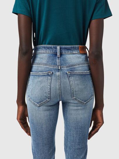 Diesel - Slandy High Skinny Jeans 09B09, Light Blue - Jeans - Image 4