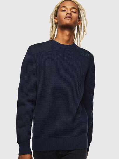 Diesel - K-LESTER, Dark Blue - Sweaters - Image 1