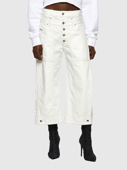Diesel - D-Laly Wide Jeans 0HDAI, White - Jeans - Image 1