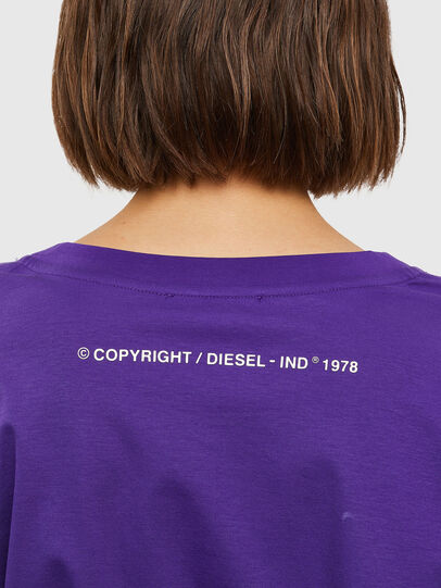 Diesel - T-ROSES, Violet - T-Shirts - Image 4
