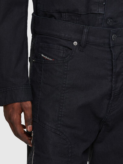 Diesel - D-VIDER Carrot JoggJeans® 0DDAX, Black/Dark Grey - Jeans - Image 4