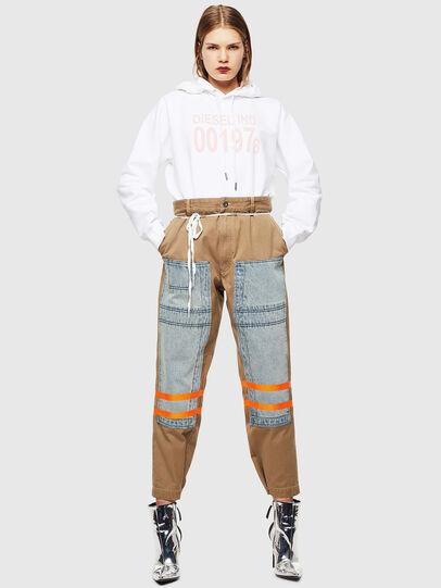 Diesel - F-ANG-HOOD-J1, White - Sweatshirts - Image 5