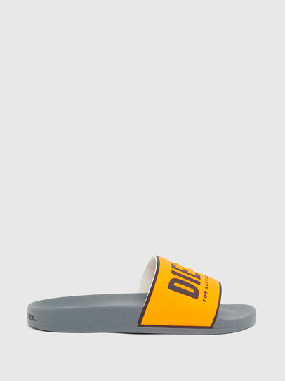 Diesel - SA-VALLA, Black/Orange - Slippers - Image 1