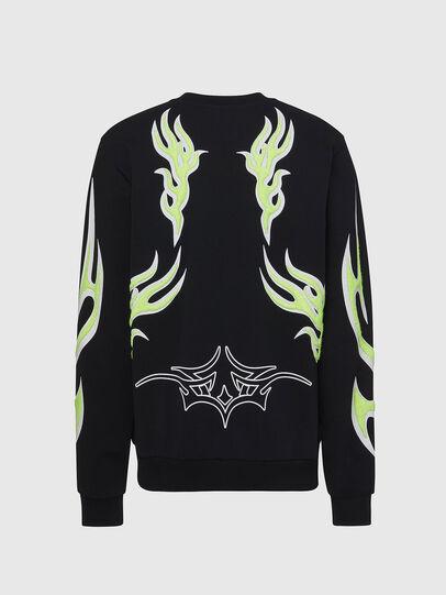 Diesel - F-ANG-E1, Black - Sweatshirts - Image 2