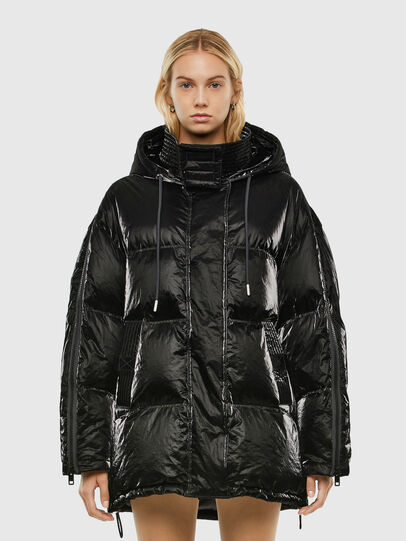 Diesel - W-DERK, Black - Winter Jackets - Image 1