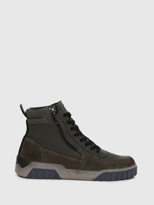 innovative design 2c26d 97e94 High-top sneakers with mesh overlay