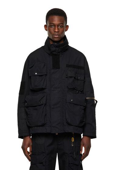 Field jacket in cotton-nylon canvas
