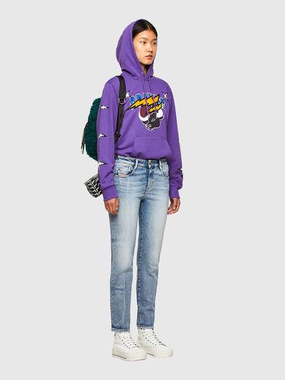 Diesel - CL-S-GIRK-HOOD-O1, Violet - Sweatshirts - Image 8