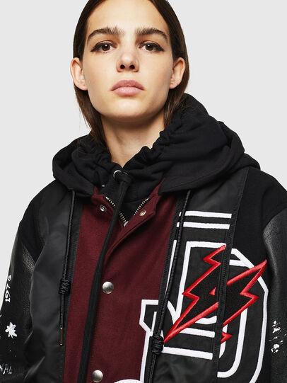 Diesel - W-ANTONIA, Black/Red - Winter Jackets - Image 3