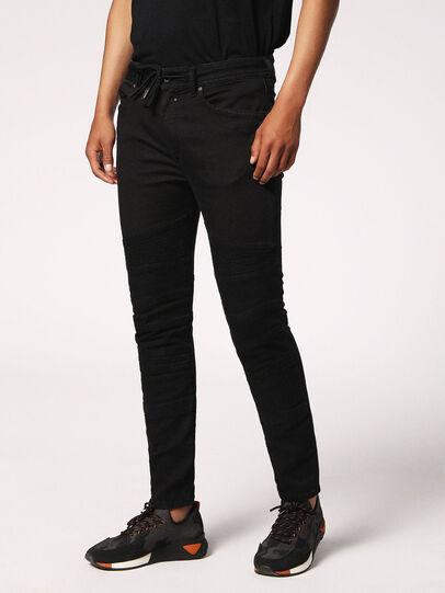 Diesel - Bakari JoggJeans 0678E, Black/Dark Grey - Jeans - Image 4