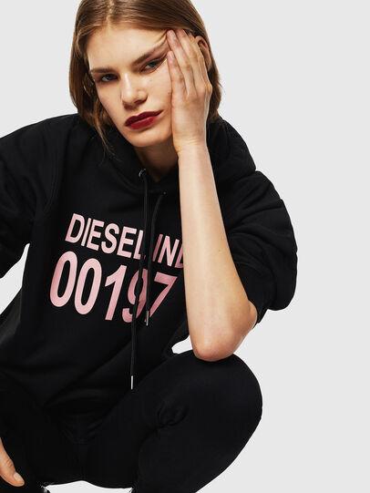 Diesel - F-ANG-HOOD-J1, Black - Sweatshirts - Image 4