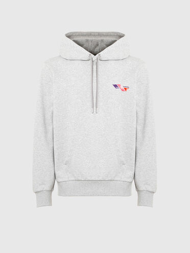 Hoodie with tri-colour print