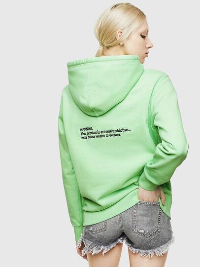 Diesel - S-GIRK-HOOD-FLUO, Green Fluo - Sweatshirts - Image 4
