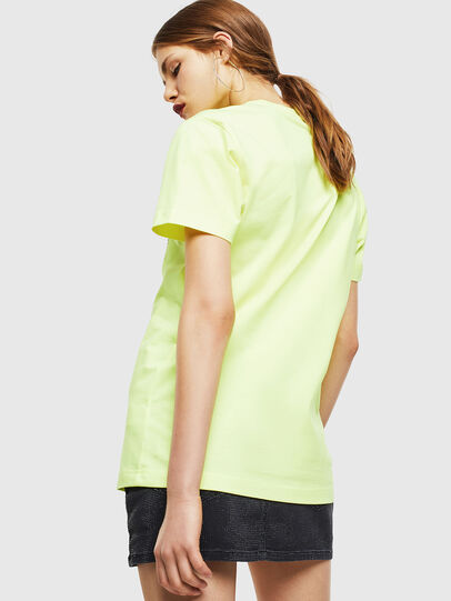 Diesel - T-DIEGO-J4, Yellow Fluo - T-Shirts - Image 4