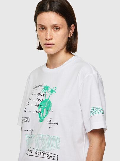 Diesel - T-JUST-B61, Blanco - Camisetas - Image 6