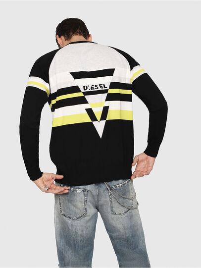 Diesel - K-SHUFF, Black/White - Sweaters - Image 2