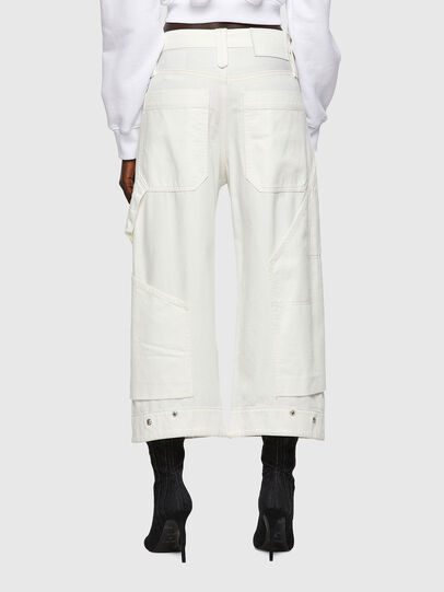Diesel - D-Laly Wide Jeans 0HDAI, White - Jeans - Image 2