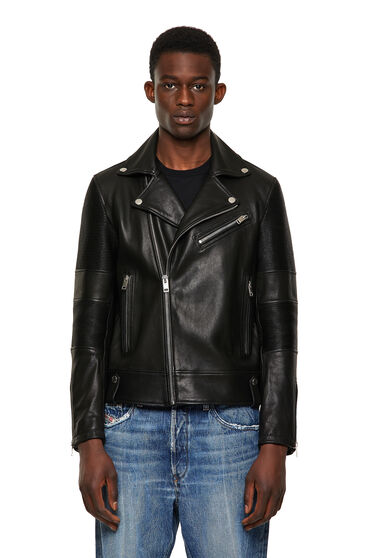 Biker jacket with stretch inserts
