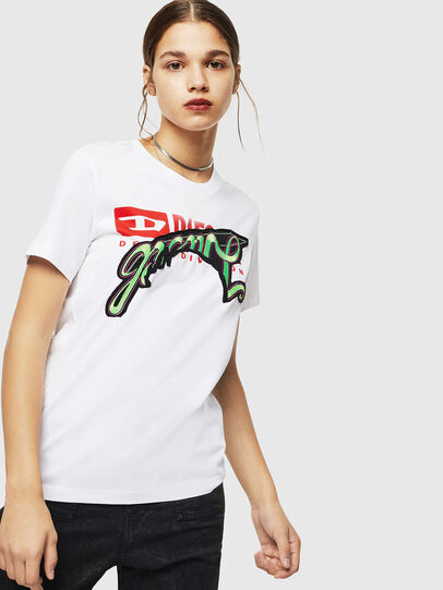 Diesel - T-SILY-ZD, White - T-Shirts - Image 1