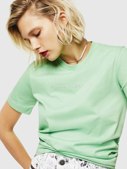 Diesel - T-SILY-COPY, Green - T-Shirts - Image 5