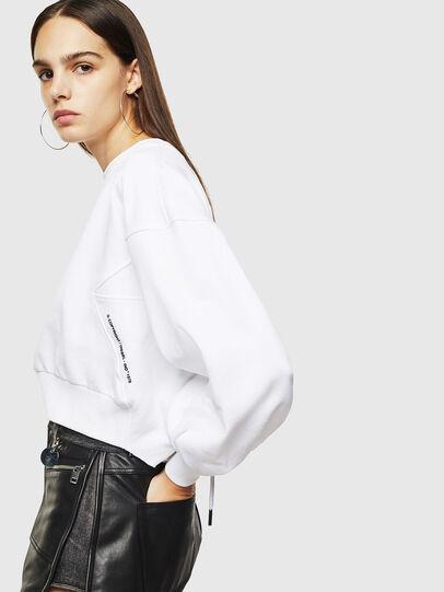 Diesel - F-MONDY, White - Sweatshirts - Image 3
