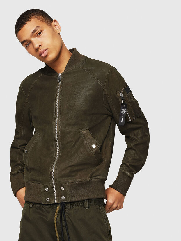 L-NIKOLAI, Military Green - Leather jackets