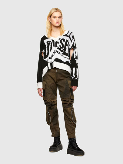 Diesel - M-ROSALINE, White/Black - Sweaters - Image 4