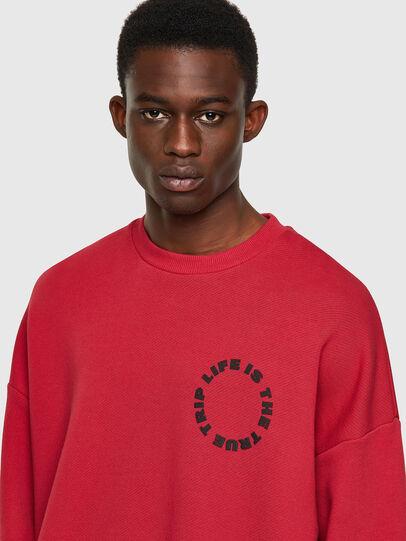 Diesel - S-MART-B3, Red - Sweatshirts - Image 4