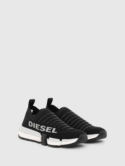 Diesel - H-PADOLA LOW SOCK W, Black - Sneakers - Image 2