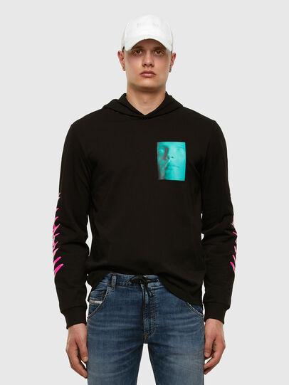Diesel - T-JUST-LS-HOOD-X30, Black - T-Shirts - Image 6