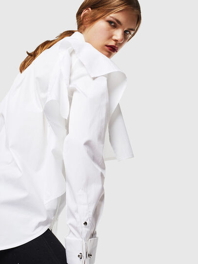 Diesel - C-RAILY-SHAPED, White - Shirts - Image 5