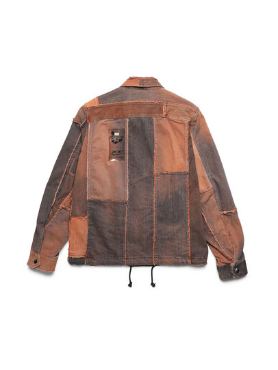 Diesel - D-COACINQUE5, Orange - Denim Jackets - Image 2