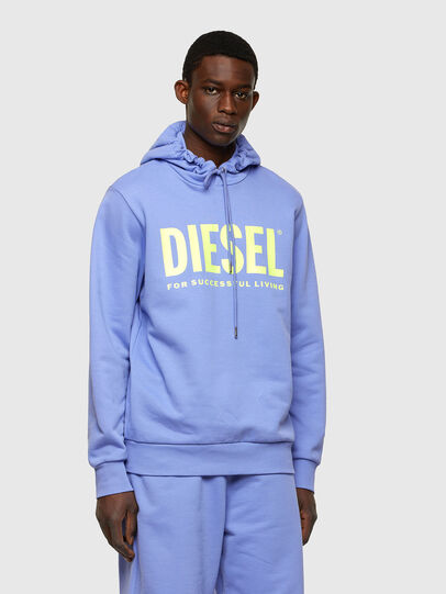 Diesel - S-GIR-HOOD-DIVISION-, Lilac - Sweatshirts - Image 1
