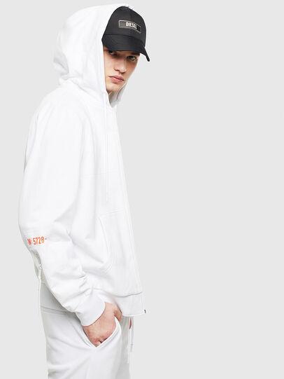 Diesel - S-DIEX, White - Sweatshirts - Image 5