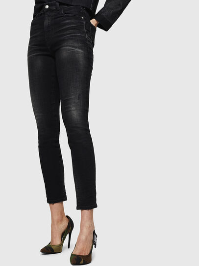 Diesel - Babhila High 0092B, Black/Dark Grey - Jeans - Image 4