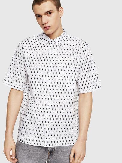 Diesel - S-FRY-SKULL, White - Shirts - Image 1