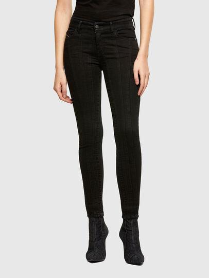 Diesel - Slandy Skinny Jeans 069VP, Black/Dark Grey - Jeans - Image 1