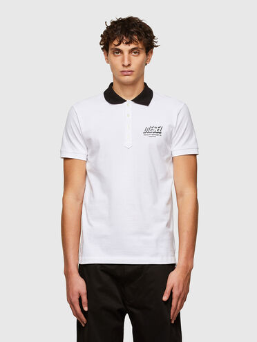 Polo shirt with Diesel Industry prints