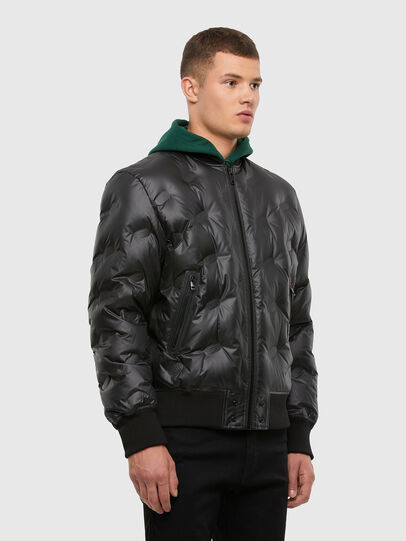 Diesel - W-ON-THERMO, Black - Winter Jackets - Image 7