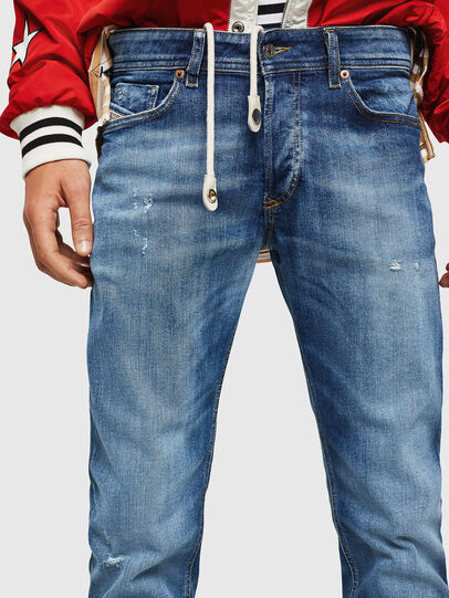 Diesel - Sleenker 069FY, Medium Blue - Jeans - Image 3