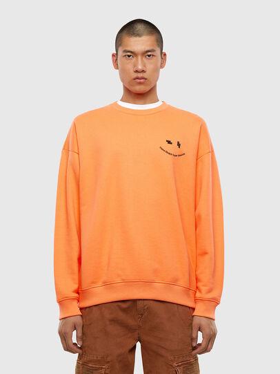 Diesel - S-MART-FLU, Orange - Sweatshirts - Image 1