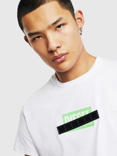Diesel - T-DIEGO-S7, White/Green - T-Shirts - Image 3