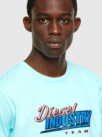 Diesel - T-DIEGOS-K37, Light Blue - T-Shirts - Image 3