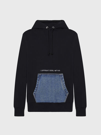 Diesel - S-THOS, Black - Sweatshirts - Image 1